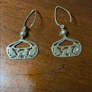 RARE Silpada Dog and Cat Earrings